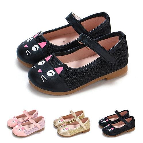 Cute Toddler Baby Girls Shoes Children Cartoon Cat
