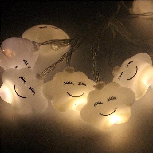 10 Led Emoji Cloud Shape String Lights DIY Party