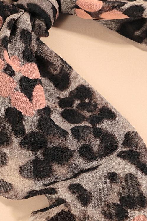 Leopard Print Scarf Pony