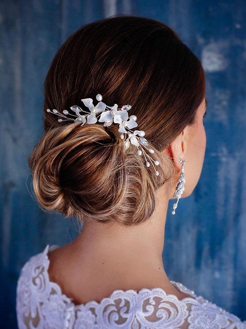 Floral bridal hair comb Wedding headpiece