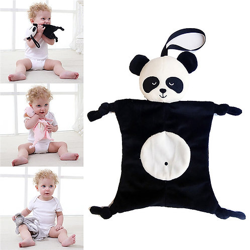 Cute Baby Bibs Comforting Plush Toy Animal Doll
