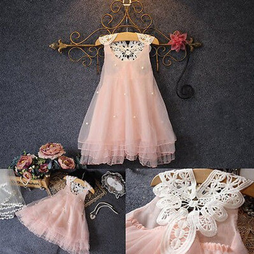 New lace girls Dress Wedding Party Summer