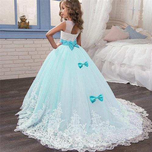 Kid Girls Elegant Wedding Pearl Petals Girl Dress