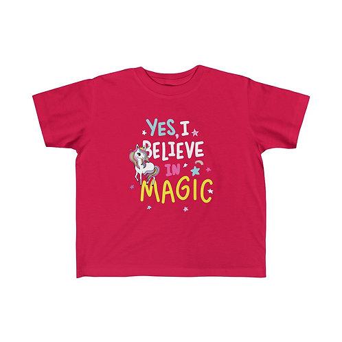 Yes I Believe in Magic Unicorn Kid Girls Tee