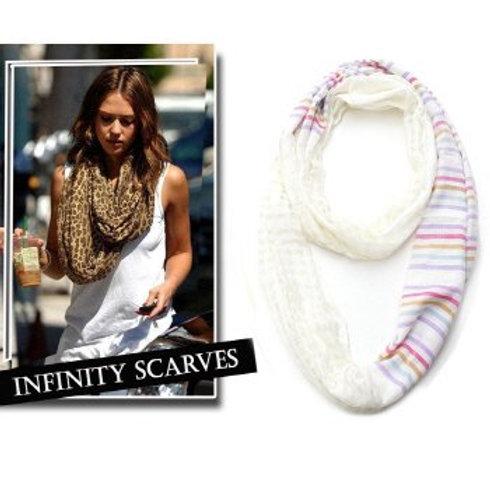 Stripe Printed Infinity