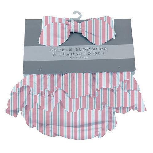 Candy Stripe Ruffle Bloomers and Headband Set