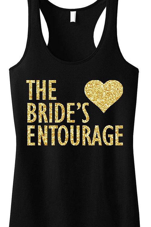 BRIDE'S ENTOURAGE Gold GLITTER Tank Top