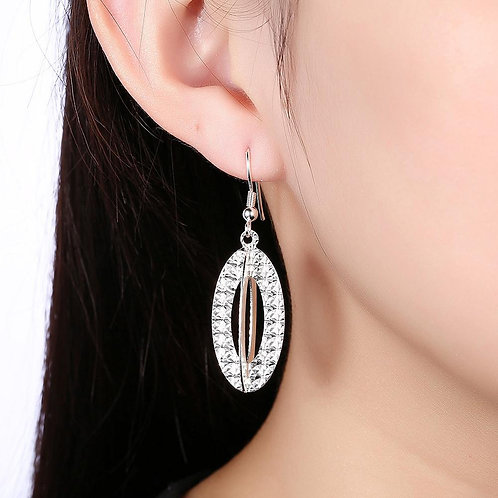 Logroño Drop Earring in 18K White Gold Plated