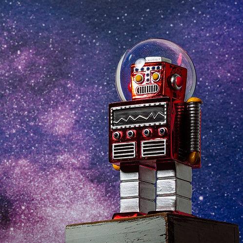 Red Robot Snowglobe