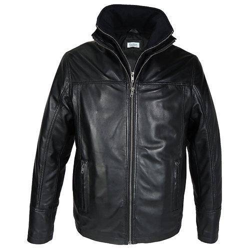 Mens Oxford Csaba Leather Jacket - Clearance