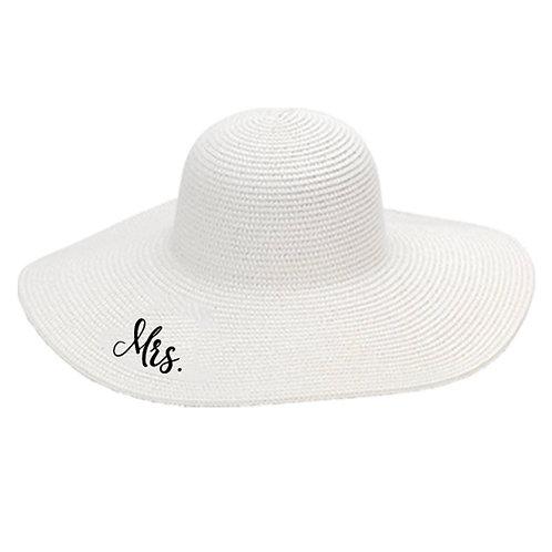 MRS Bride Floppy Hat