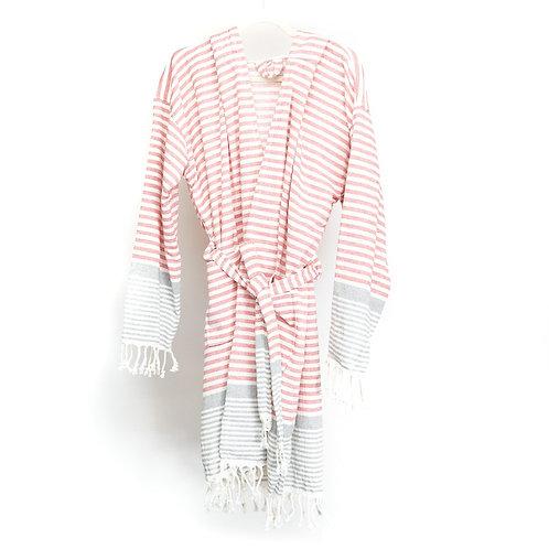 Red 100% Cotton Peshtemal Ultra Soft Robe