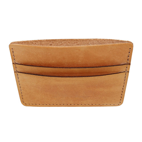 Men's / Women's Tan Natural Leather Card/ Cash Holder Wallet