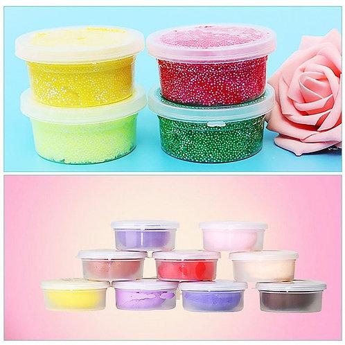 12/20/25pcs Empty Slime Storage Container Tin