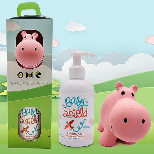 Baby Shield Tikiri Safari Gift Set - Hippo