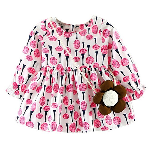 Girls Sun Flower Dress Fashion Casual Cotton