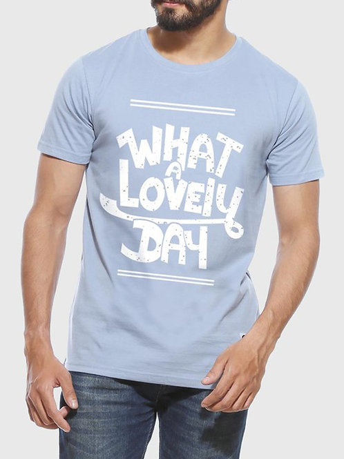 What a Lovely Day - Men's Funny Yale Blue T-Shirt