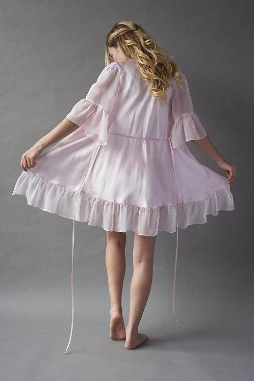 Pink Ice Silk Robe