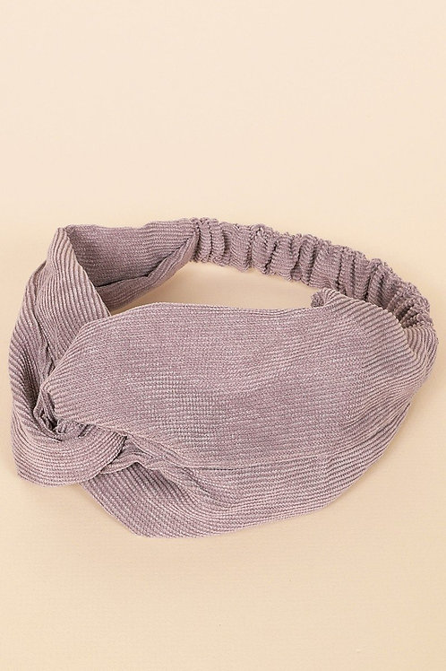 Solid Corduroy Chunky Twisted Headwrap