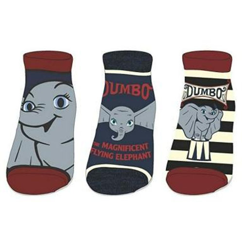 Disney Dumbo Juniors 3 Pack Ankle Socks