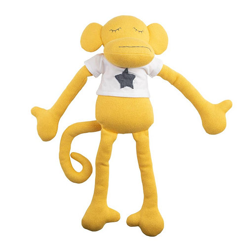 Yellow Monkey Plush Huggie