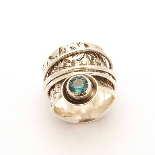 Spinning Ring With Stone Accent