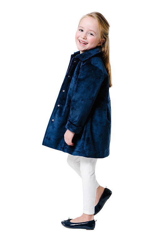 Party Coat in Navy Blue