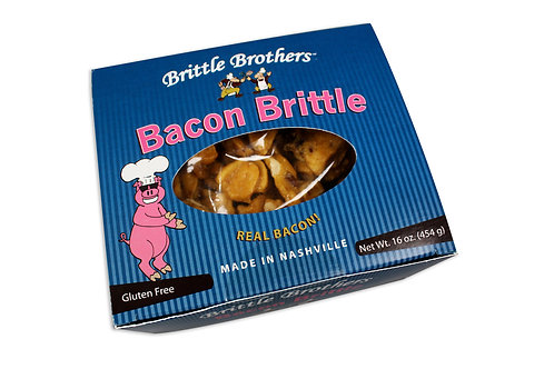 Brittle Brothers Gourmet Bacon Brittle - 1 Pound Box