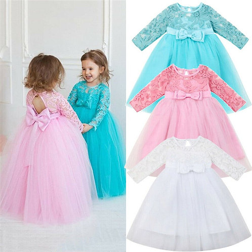 Kid Baby Girl Princess Dress Formal Party Wedding