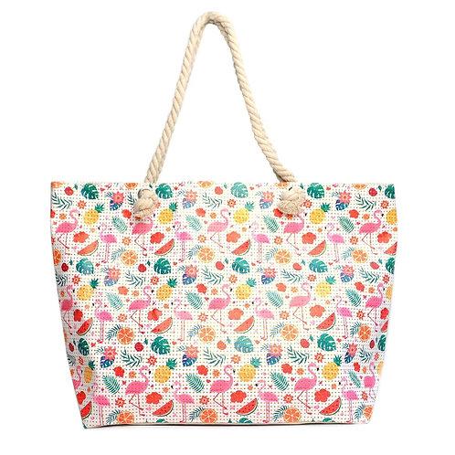 Tropical Summer Rhinestones Tote Bag