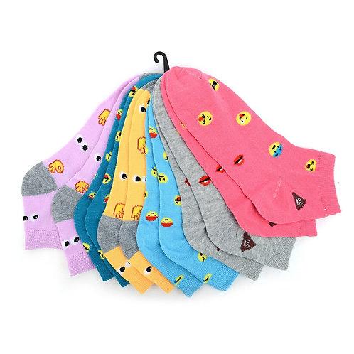 Women's Emojis Low Cut Fun Socks 6pk