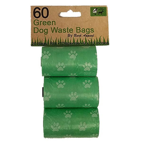 3 Pack 60 Green Waste Bags