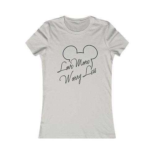 Love More Worry Less Mickey Women Tee