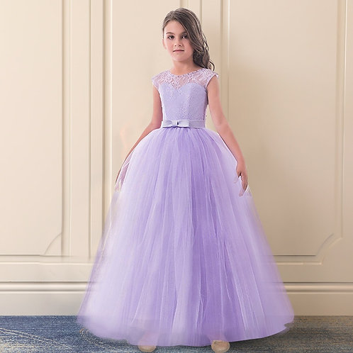 Kids Dresses for Girls Wedding Tulle Lace Long