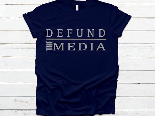 DEFUND THE MEDIA UNISEX T-SHIRTS