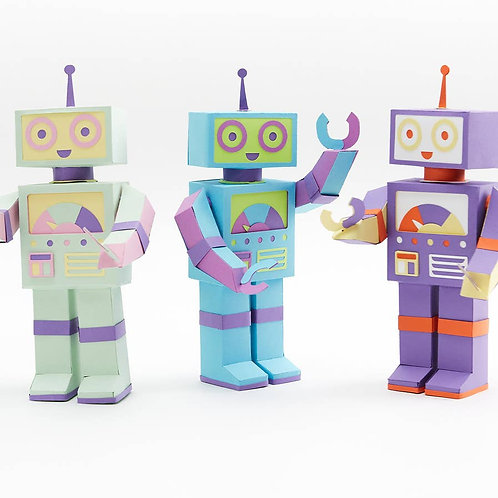 Moveable Robot Paper Craft Kit- Pick Your Robot 1 of 4