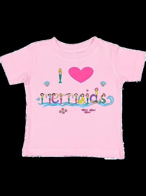 I Heart Mermaids Tee Toddler
