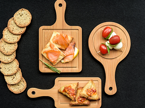 Tasteful Tapas Mini Appetizer Boards (Set of 3)
