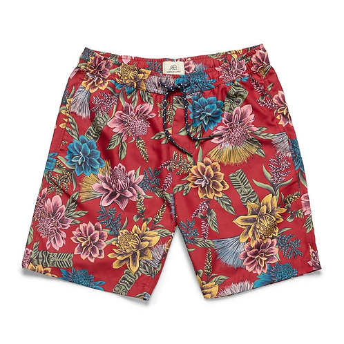 Boys Tropical Floral Lined Volley