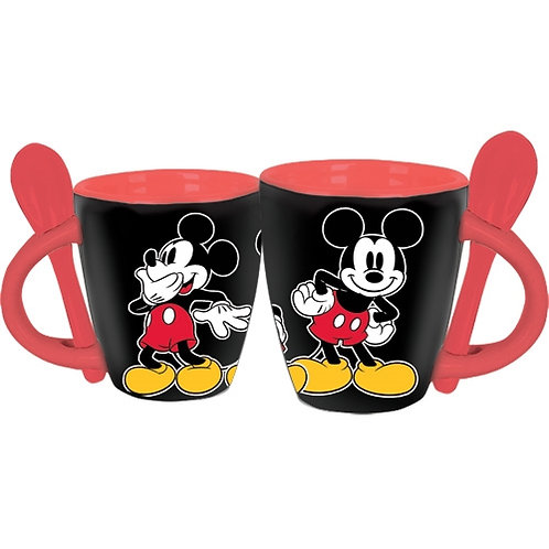Mickey's Espresso Cup with Spoon (Set of Four)