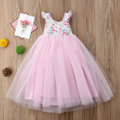 Brand New Kids Baby Girls Lace Wedding Dress