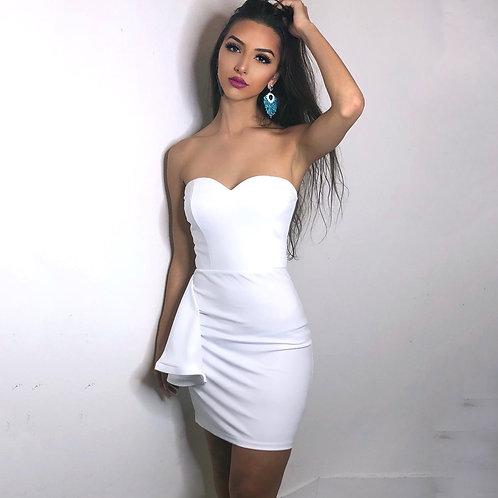 White Off Shoulder Summer Dress Sexy