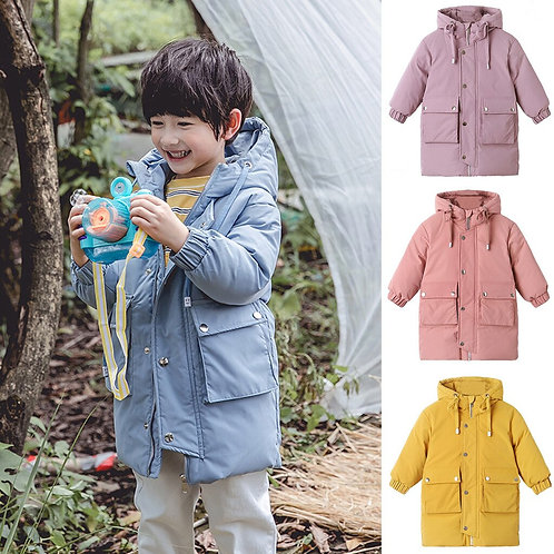 Children Kids Boys Girl Winter Coats Jacket Solid
