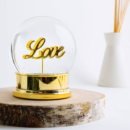 Golden Love Snowglobe