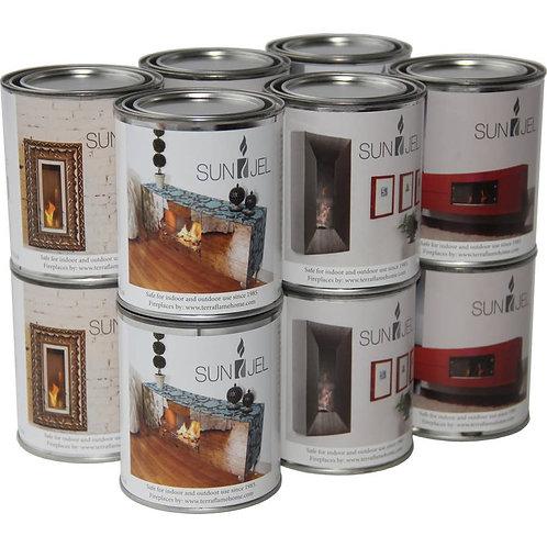 SunJel Gel Fuel Cans 12 pack