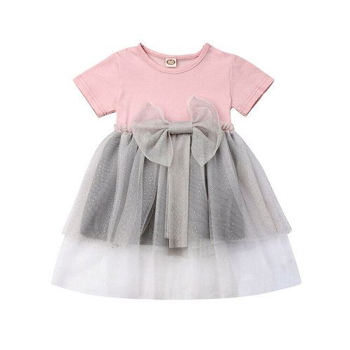Lovly Kids Baby Girl Flower Dress Lace Tutu Party