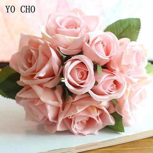 YO CHO Wedding Bouquet Polyester Roses Holder