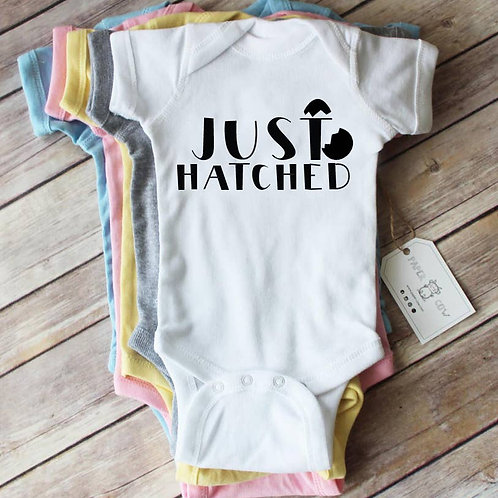 Just Hatched Baby Bodysuit Bodysuit: White,Grey, Pink, Blue,Yellow