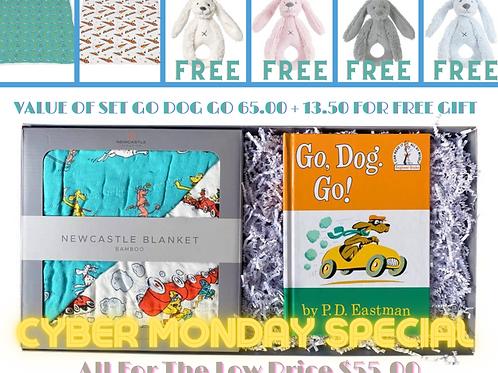 Go, Dog. Go! Bamboo Blanket Gift Set & A Free Gift Valued At 13.50