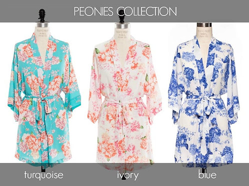Bridal Shower- Choose Your Adults Peonies Robe